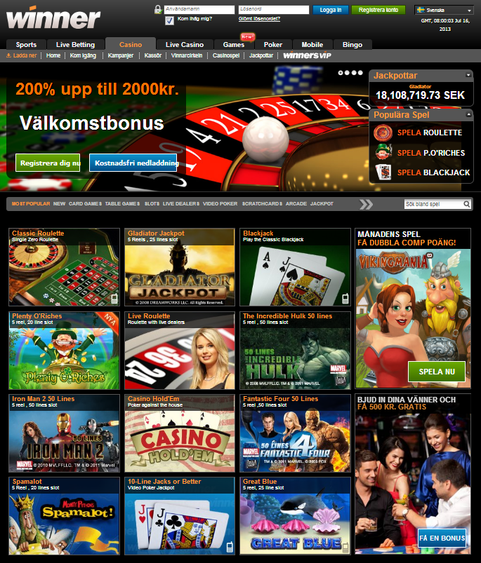 Winner casino bild
